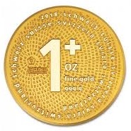 Swiss 1+ gold coin