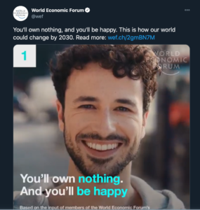 La Grande Réinitialisation - Vous ne posséderez rien et vous serez heureux
