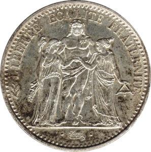 Pièce 10 francs Hercule - acheter des pièces d'argent