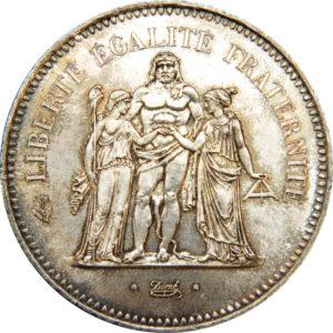 Pièce 50 francs Hercule - acheter des pièces d'argent