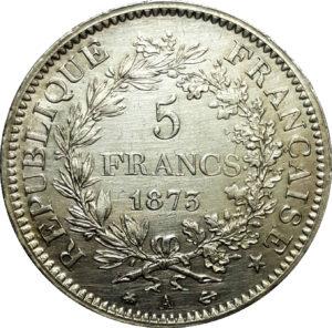 Pièce 5 francs Hercule - acheter des pièces d'argent